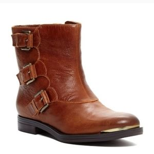 NEW Enzo Angliolini Leather Camel Ankle ElliotBoot